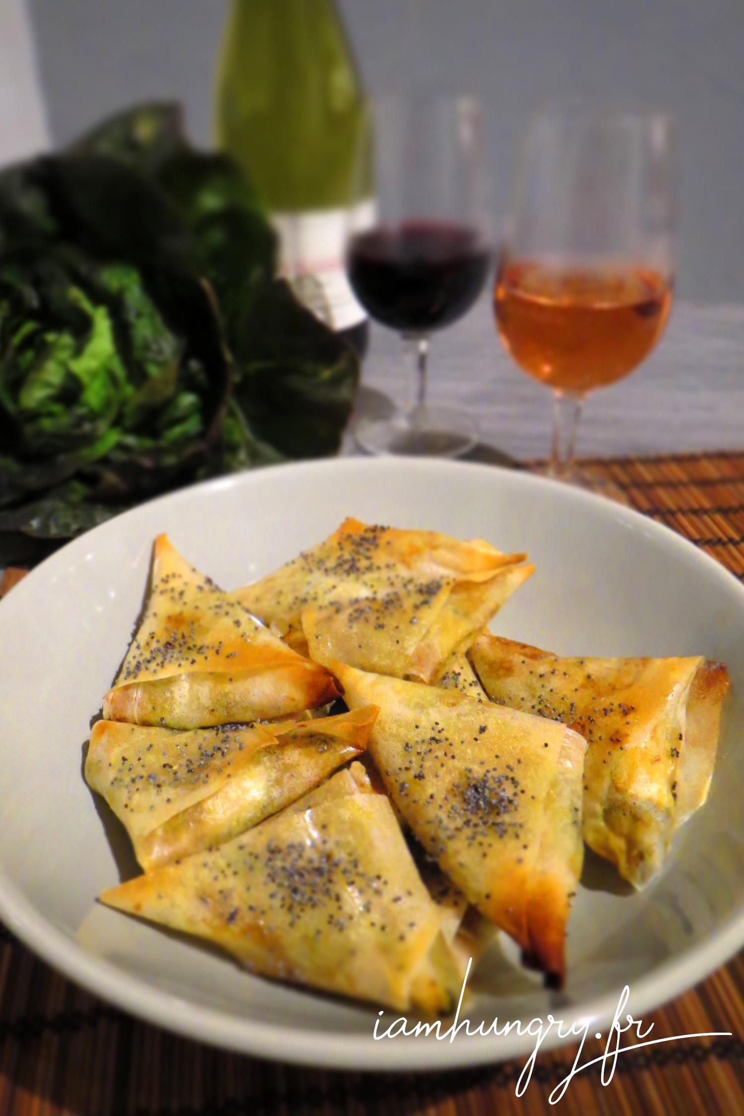 Samoussas apéritifs courgettes et parmesan