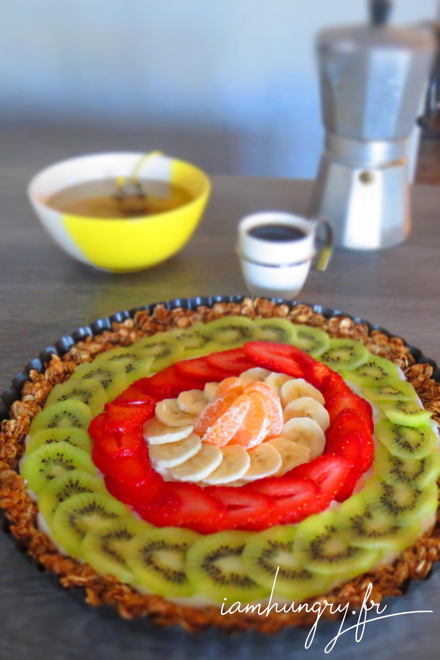 Tarte petit-déjeuner aux yaourt et aux fruits