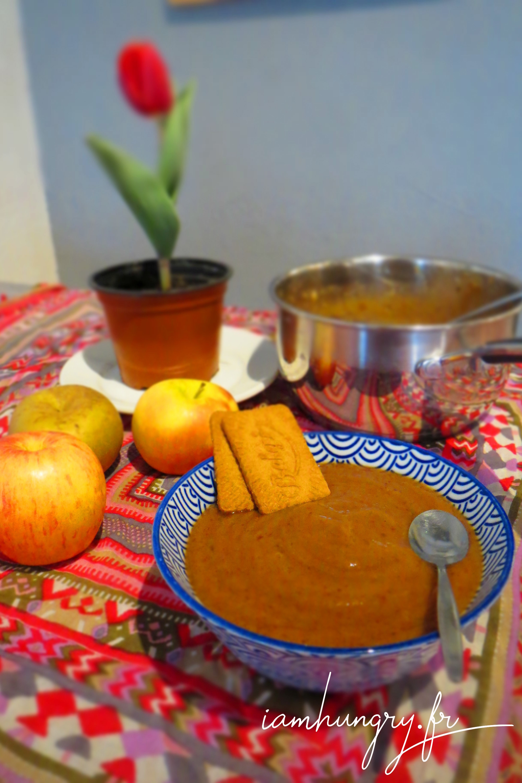 Compote de pommes pruneaux vanille