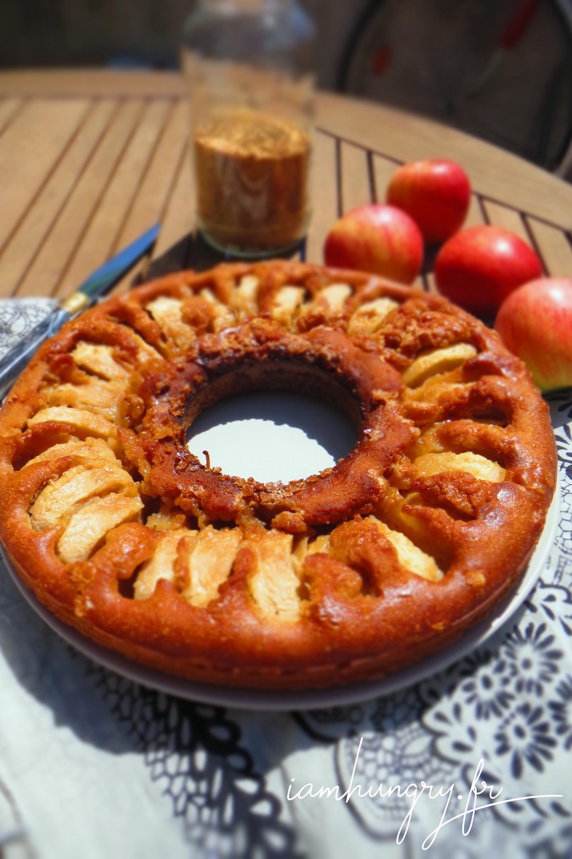 Gâteau rustique caramélisé aux pommes