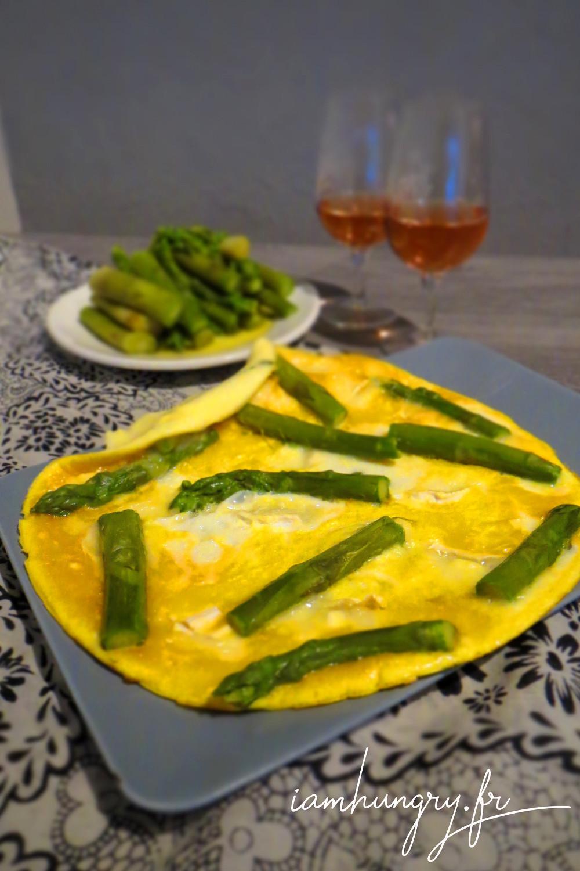 Omelette asperge che%cc%80vre