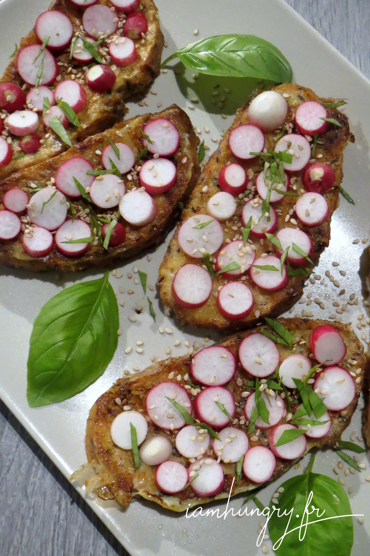 Toasts de pain perdu aux radis