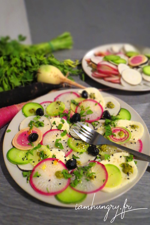Salade radis mozzarella