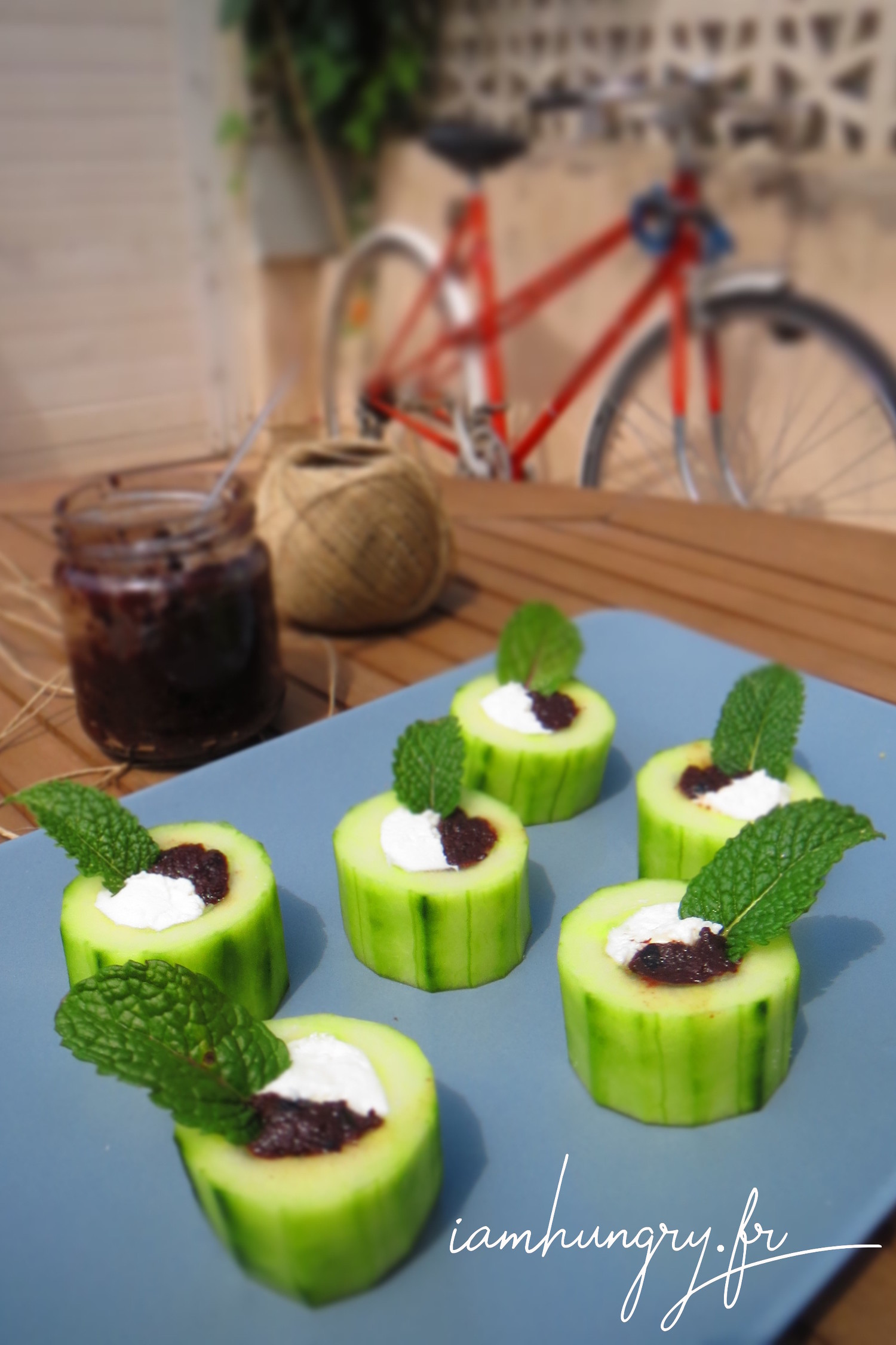 Petites verrines de concombre