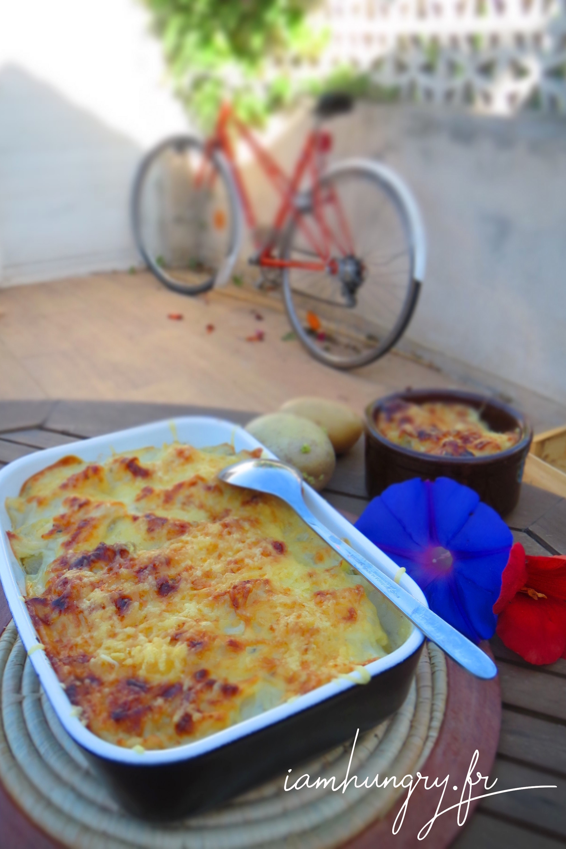 Gratin de chouchous et patates au roquefort