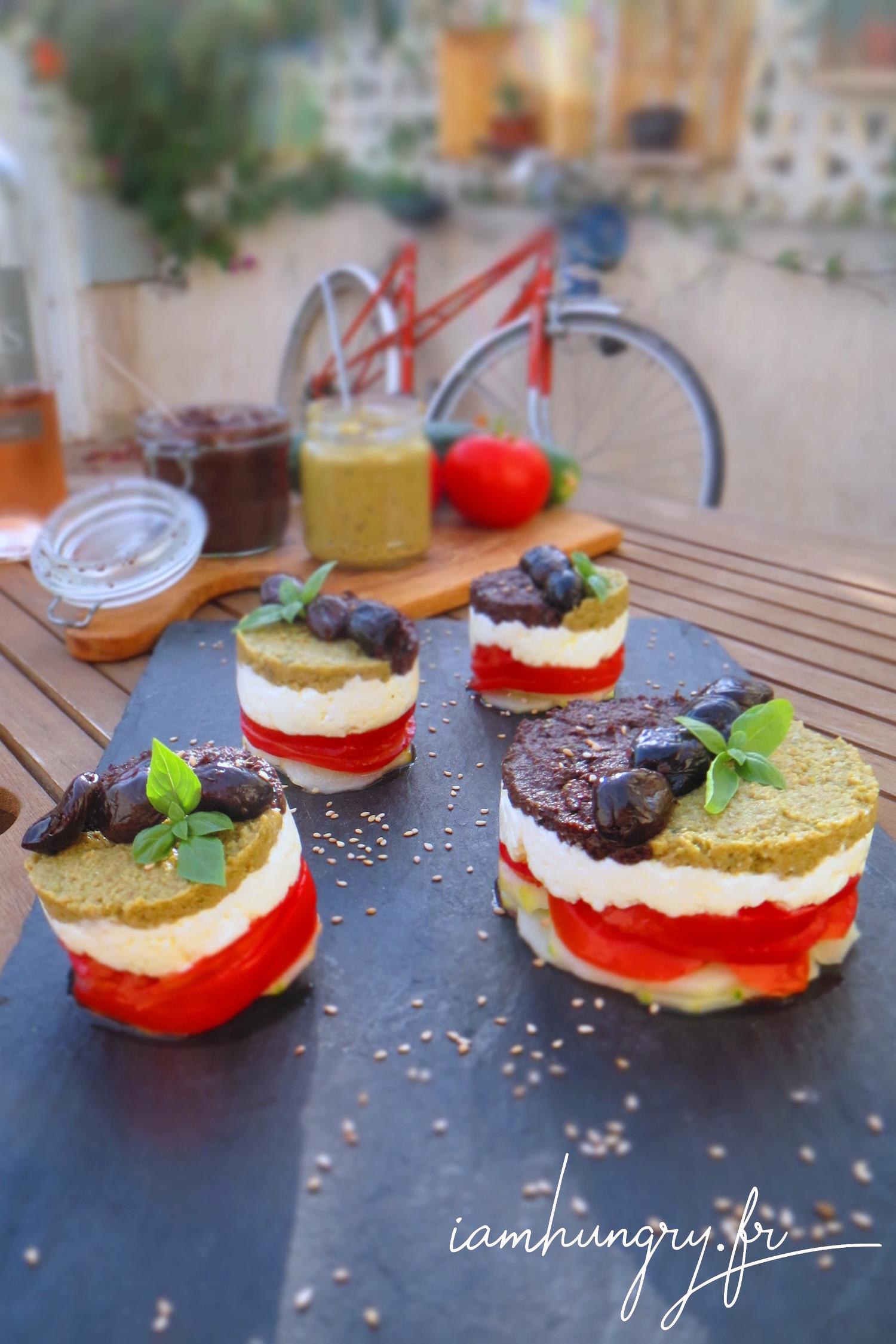 Salade grecque restructurée