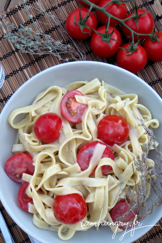 Spaghetti tomates cerises roquefort