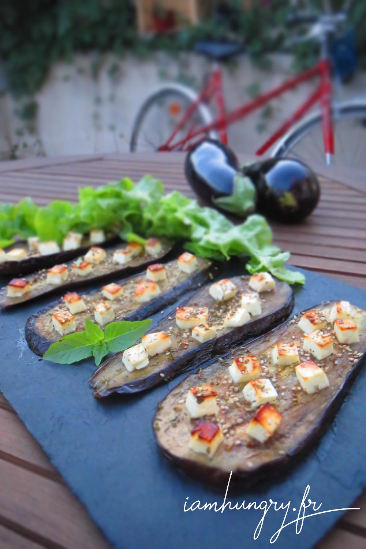 Aubergines grille%cc%81es feta