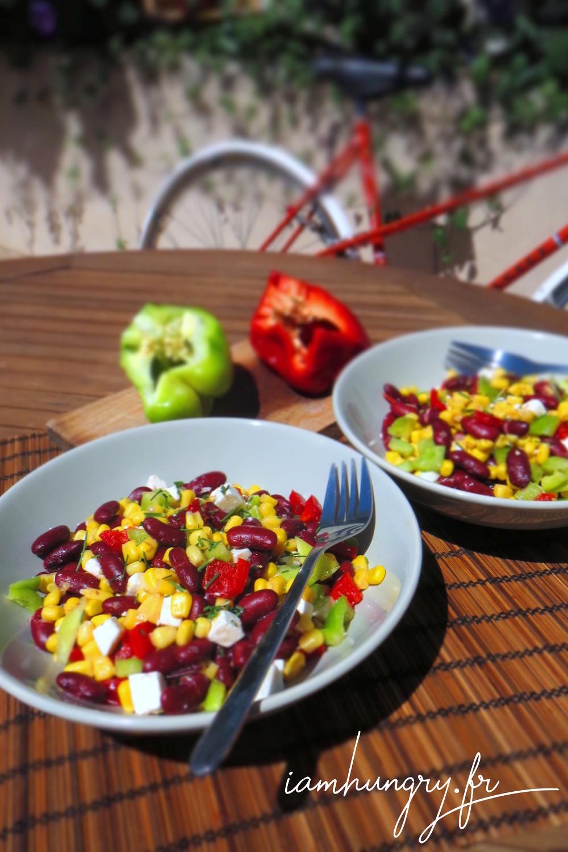 Salade haricot rouge mais poivron