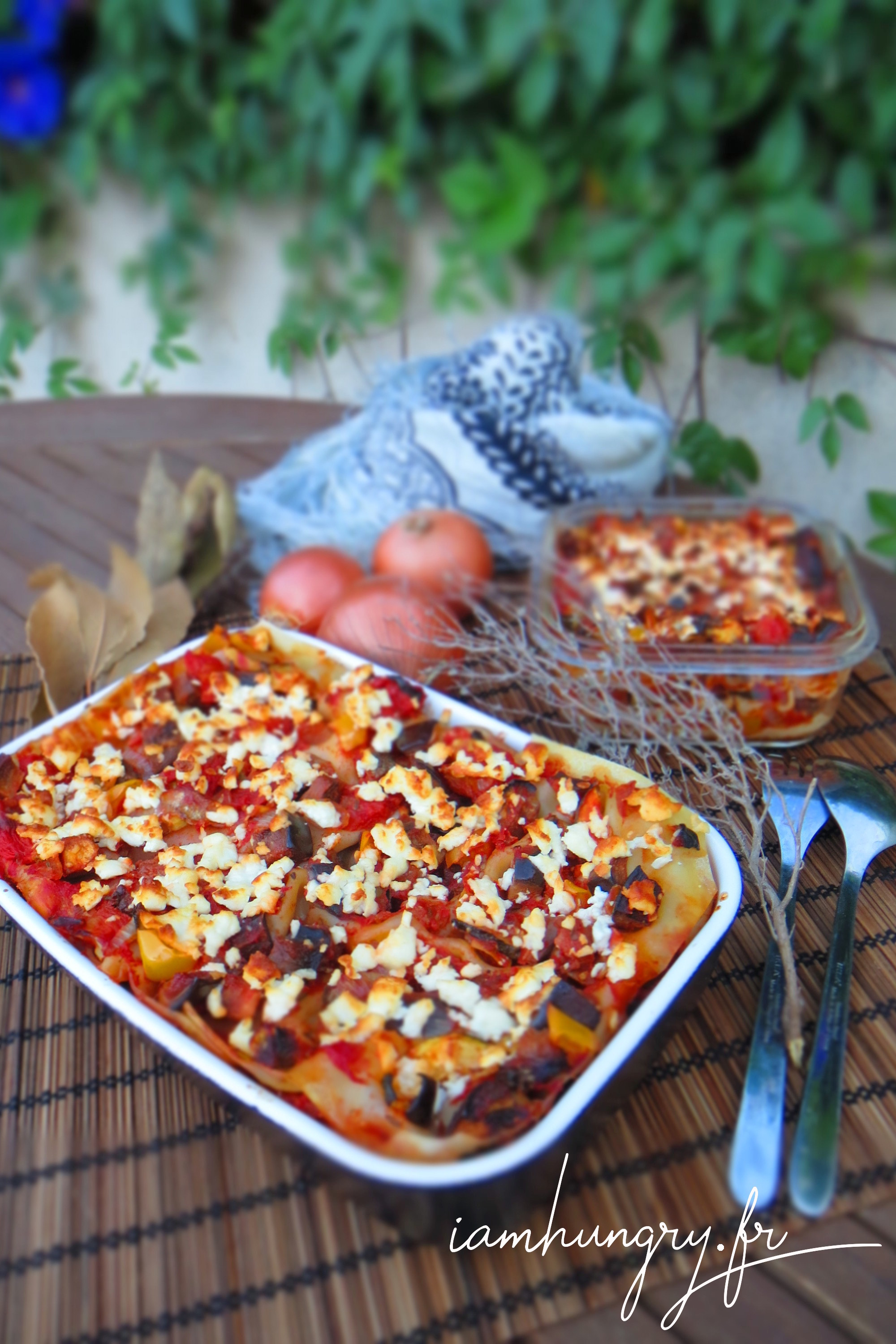 Summer vegetables lasagna