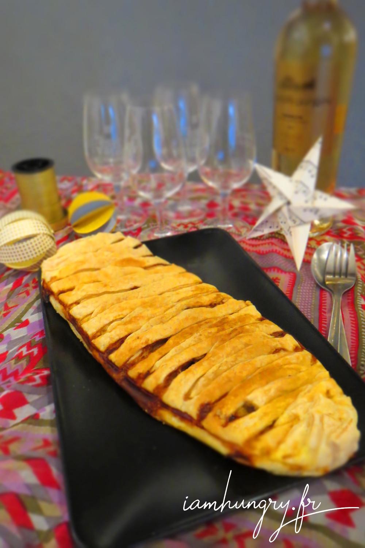 Feuillete%cc%81 courge champignon roquefort