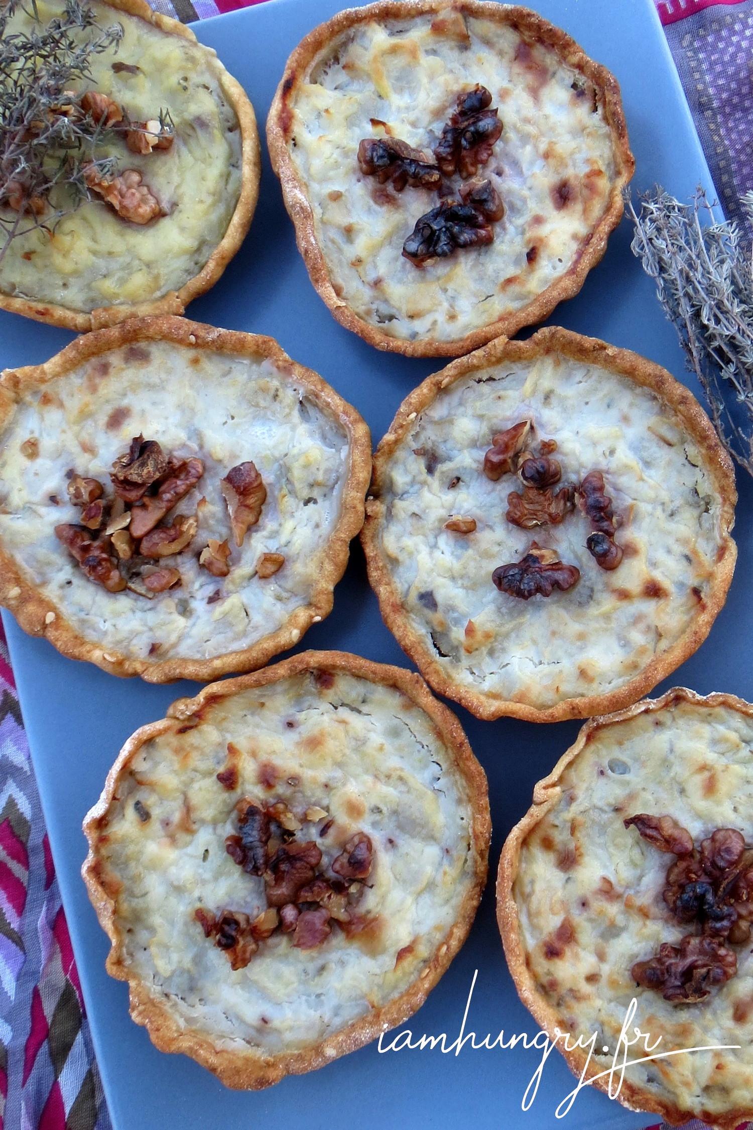 Tartelettes au topinambour et roquefort
