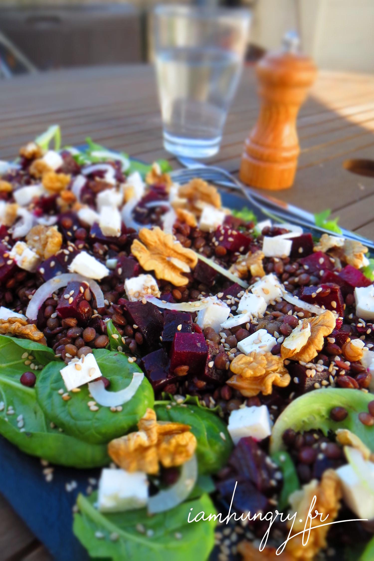 Salade de lentilles aux betteraves
