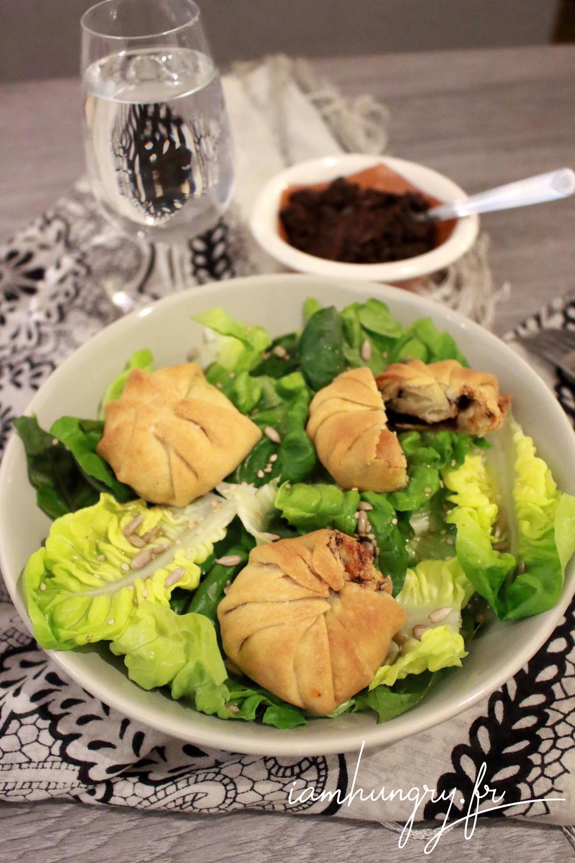 Salade de che%cc%80vre en croute