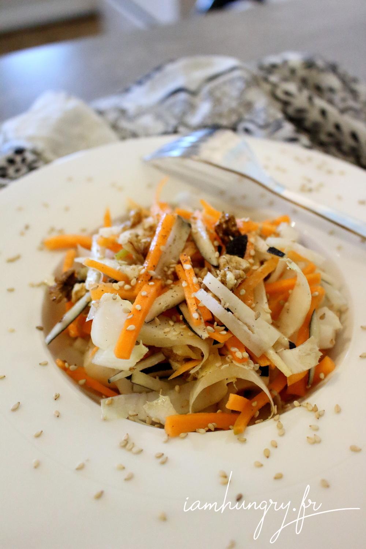 Salade hiver carotte radis noir