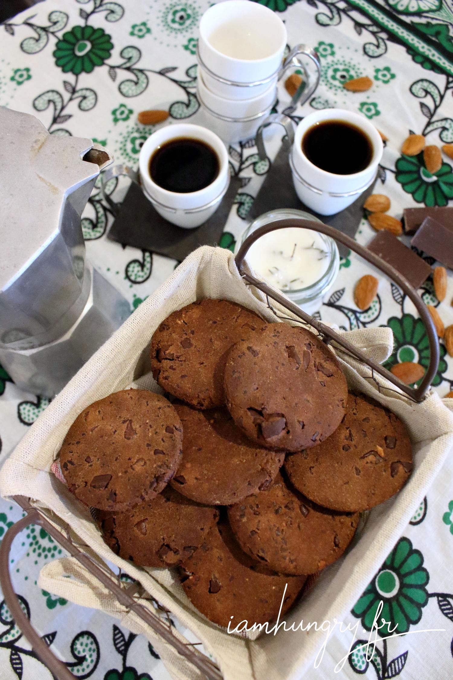 Biscuits à l'okara et au chocolat