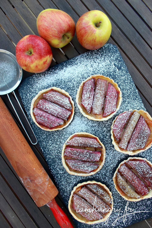 Tartelettes pommes rhuarbe 1b