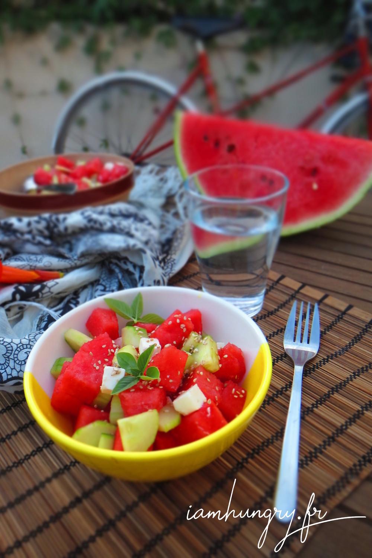 Salade paste%cc%80que feta concombre