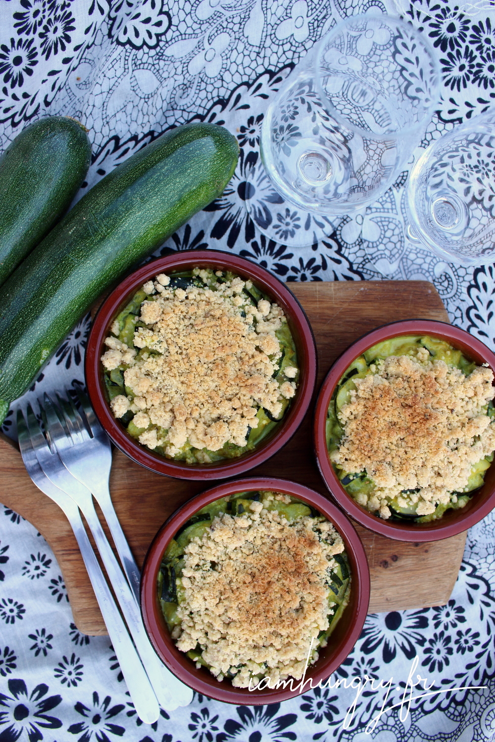 Crumble courgettes coco 1a