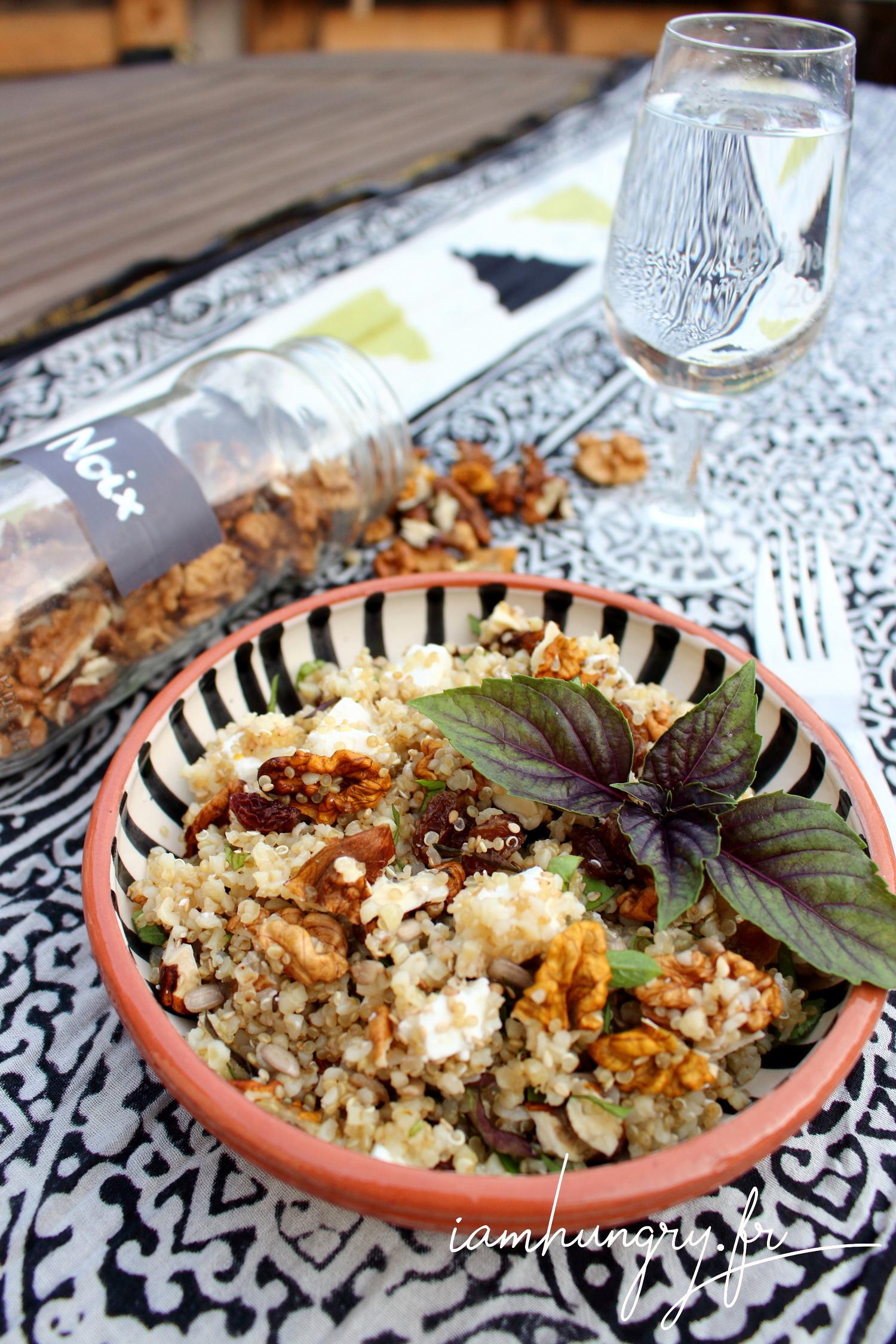 Salade de boulgour féta et noix