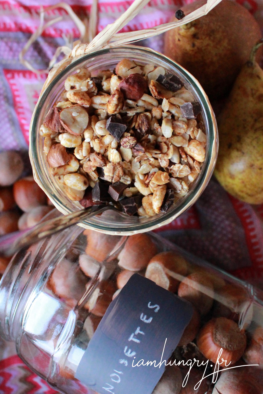 Muesli au blé soufflé noisette et chocolat