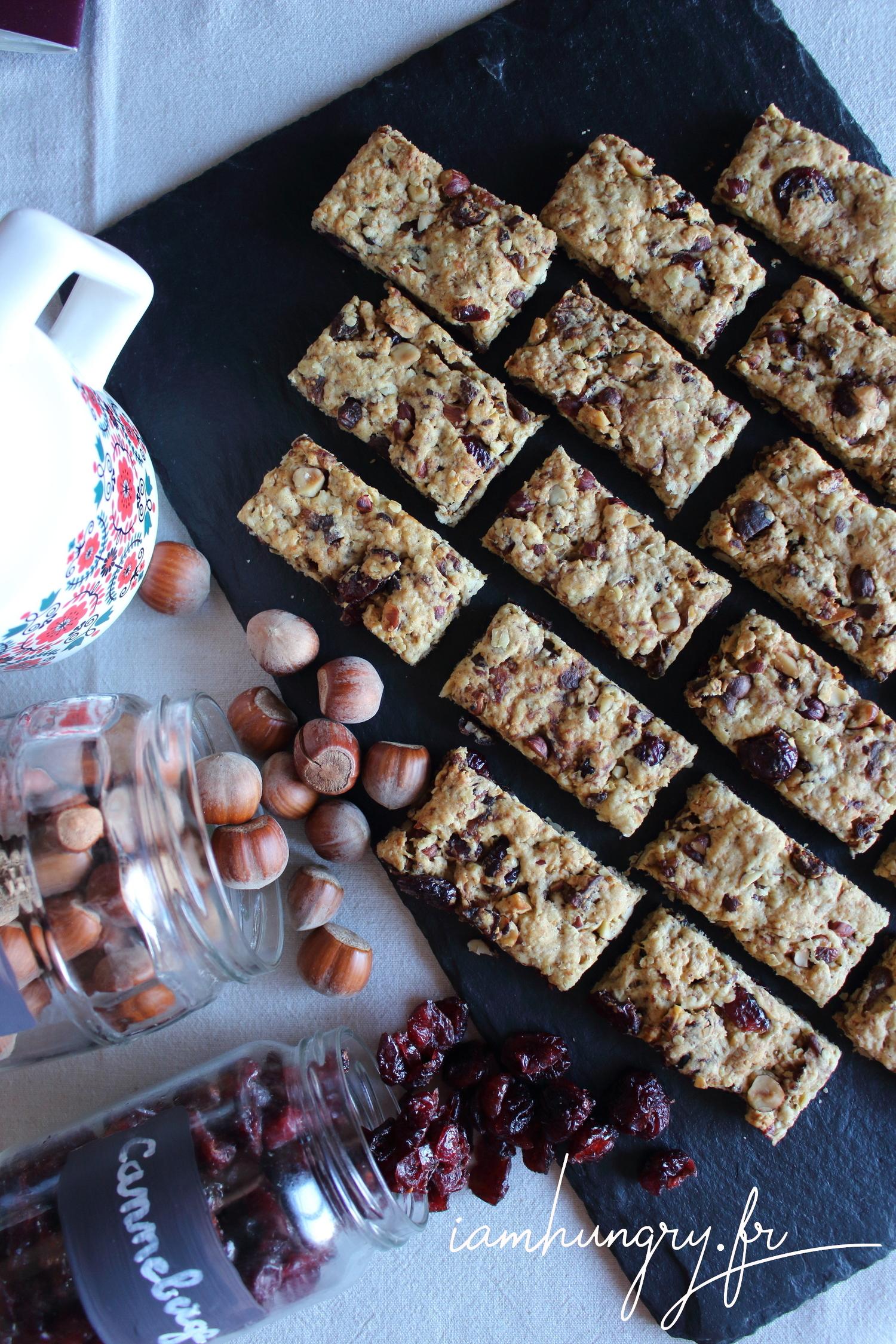 Petits biscuits aux fruits secs