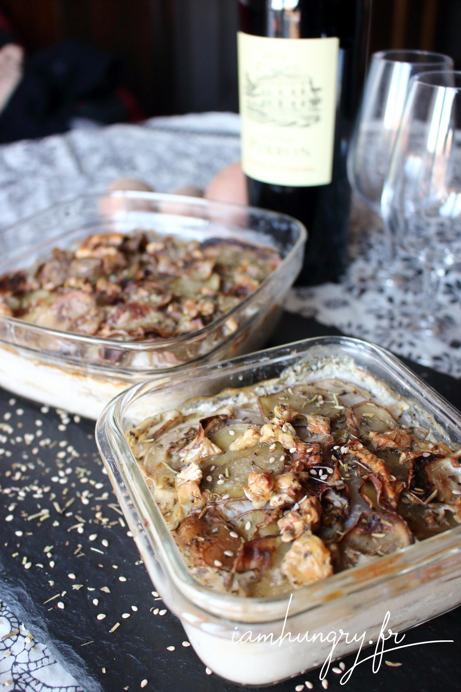Gratin dauphinois patate navet et roquefort