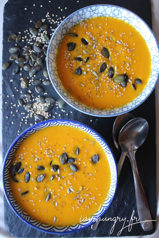 Soupe de carotte au gingembre