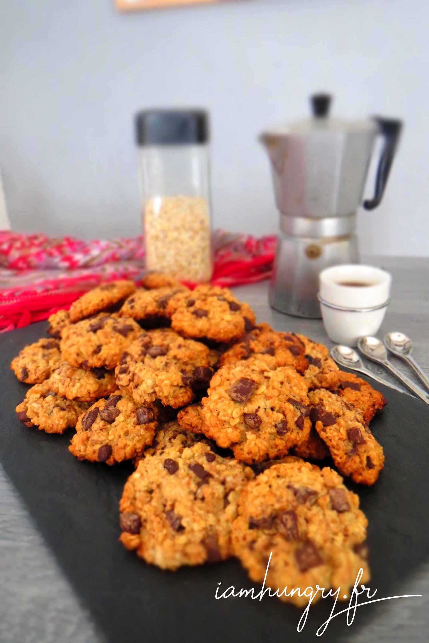 Cookies à l'avoine et chocolat
