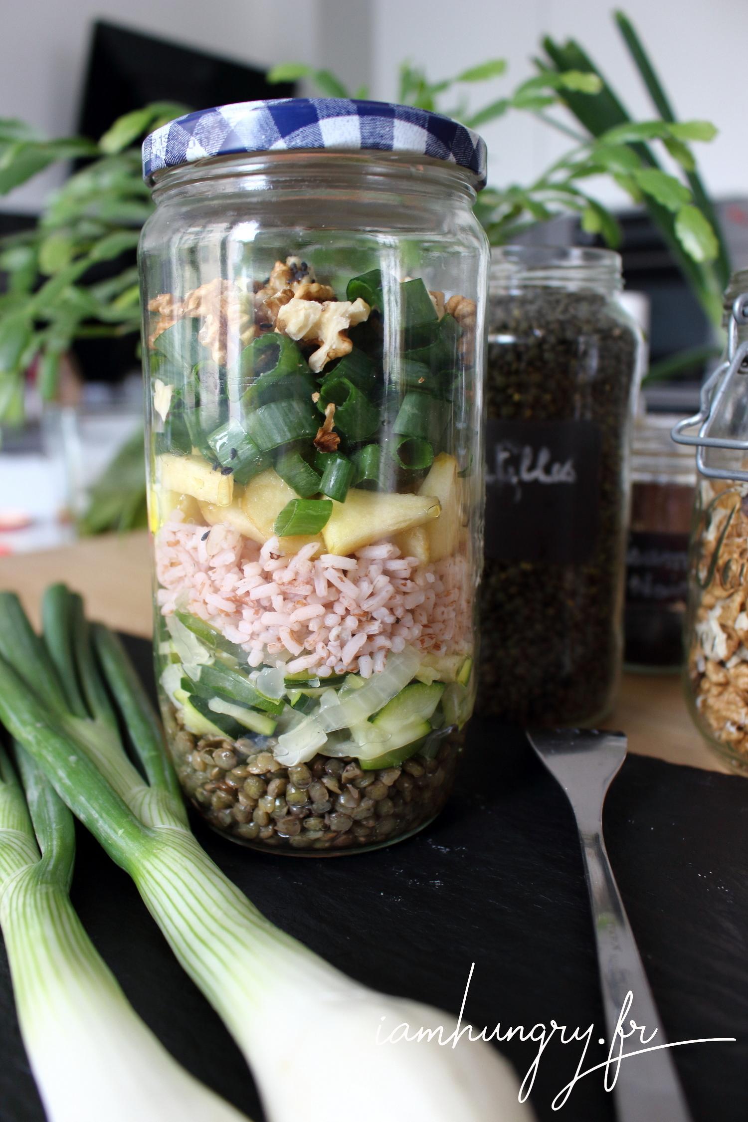 Salade de printemps en bocal
