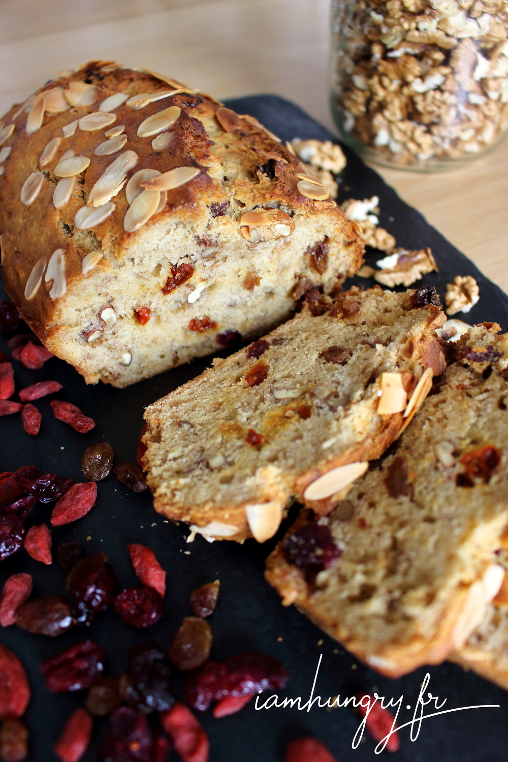 Banana bread vegan fruits secs 1e