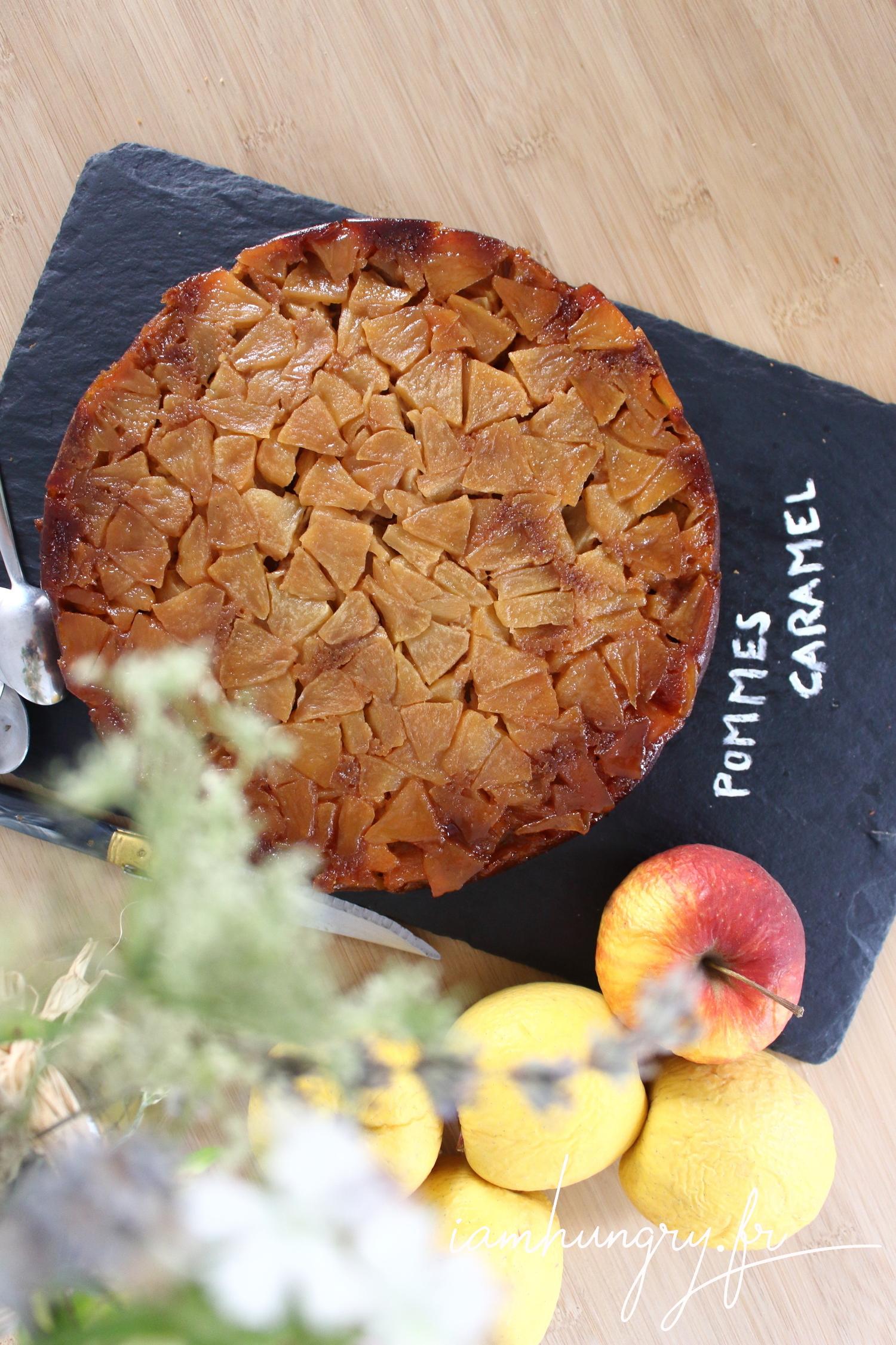 Gâteau renversé aux pommes caramélisées