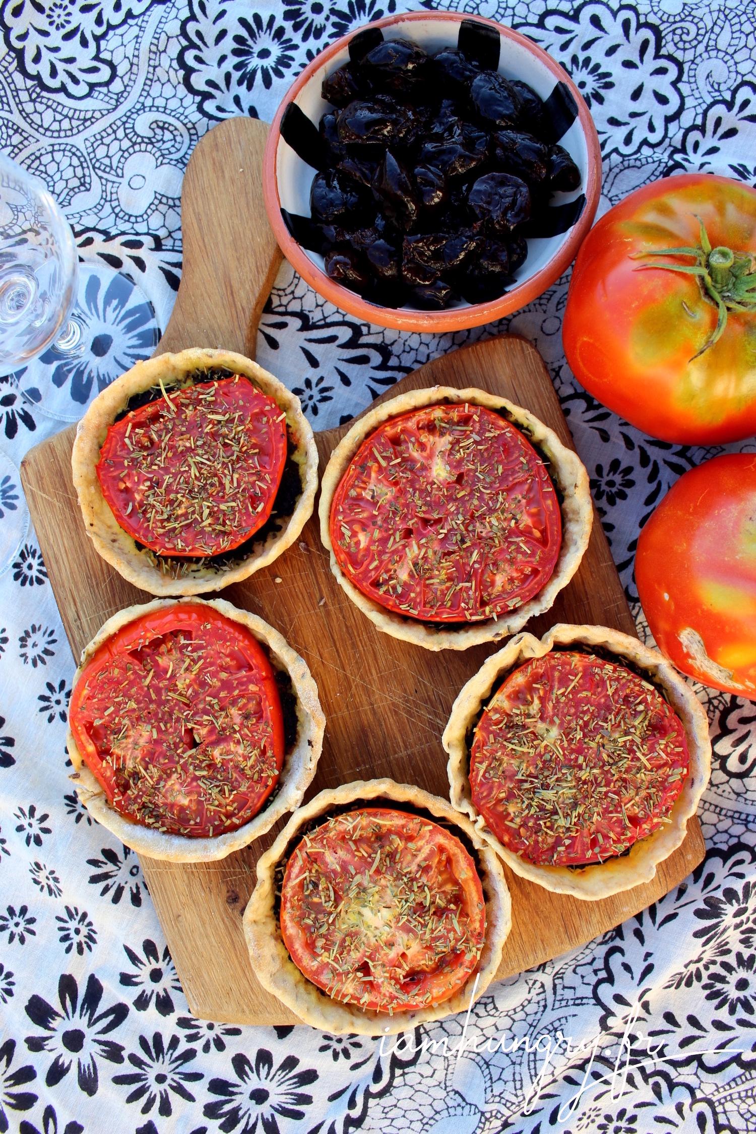 Tartelettes de tomates et tapenade