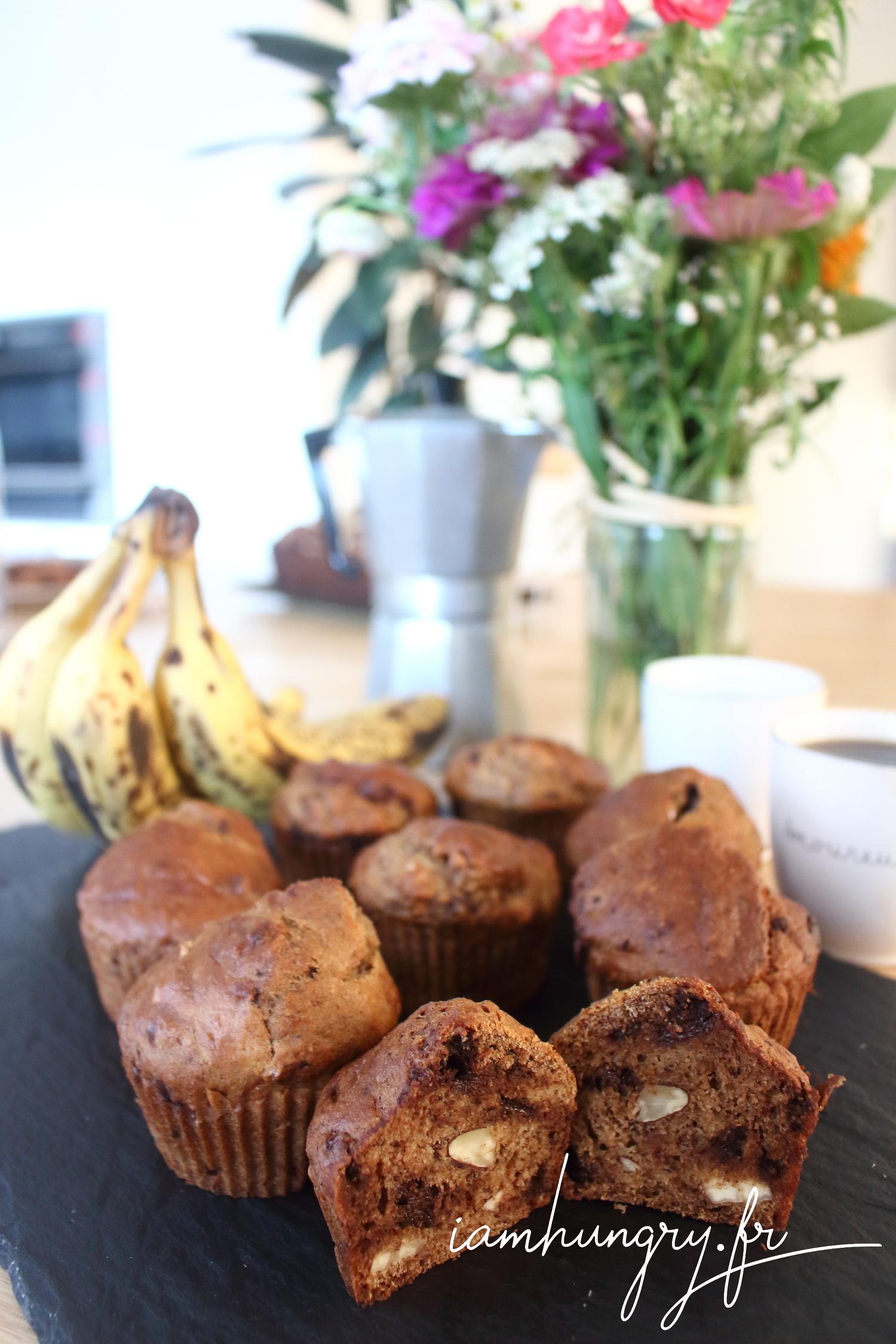 Muffins végans banane et amandes