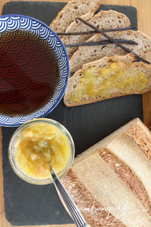 Confiture citron poire vanille 1e