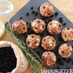 Muffins mures amandes 1c