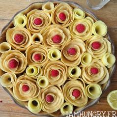 Tarte pommes roses2