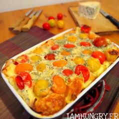 Clafoutis tomates roquefort1