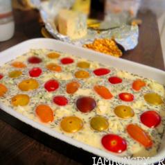 Clafoutis tomates roquefort2