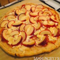 Pizza chevre peche2