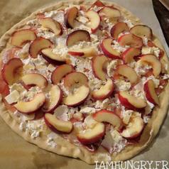 Pizza chevre peche3