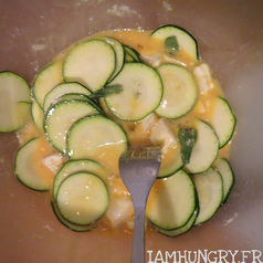 Omelette chevre courgette menthe2