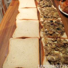 Croque monsieur champignons 2