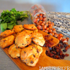 Cookies noisettes raisins secs