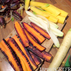 Tarte aux carottes multicolores 5