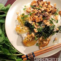 Nouilles bok choi tof champignons 1