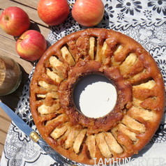 Gateau caramelise aux pommes 1
