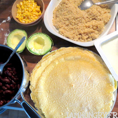 Tortillas avocat quinoa mais feta 7