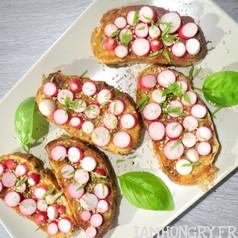 Tartines de pain perdu aux radis 1