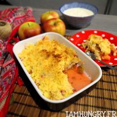 Crumble pommes rhubarbe 1